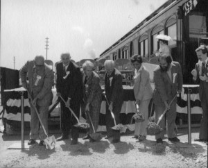 The groundbreaking ceremony for the Railroad History Museum was held on April 21, 1978. The structure was opened to the public for the first time on May 2, 1981. / Photo courtesy, California State Railroad Museum