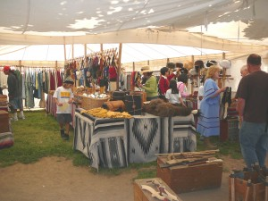 Traders' Faire guests can purchase replica 19th century cultural items and curiosities, Native American goods and other items sold by vendors from throughout the western United States. / Photo courtesy, Sutter's Fort State Historic Park