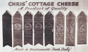 Chris' Cottage Cheese won many awards at the California State Fair for its high quality cottage cheese.  / Photo courtesy, Fulster Family