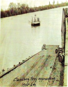 The Clarksburg Ferry is shown in this 1920s photograph. / Photo courtesy, PHCS