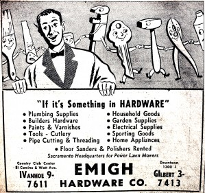 This 1952 advertisement was one of Emigh Hardware's earlier advertisements after the business added a store in Country Club Centre. / Photo courtesy, the Lance Armstrong Collection