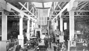 This view of the interior of the Emigh-Winchell-Cline Co. store shows some of the company's offerings, which included plows and automotive accessories. / Photo courtesy, Emigh Ace Hardware