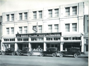 The Emigh-Winchell Hardware Co., as the business was then known, relocated to this structure at 709-715 J St. in about 1918. / Photo courtesy, Emigh Ace Hardware