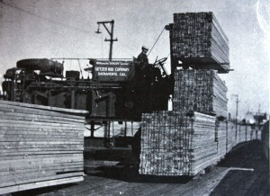 A Setzer Box Co. worker handles a load of lumber. / Photo courtesy, Setzer Forest Products