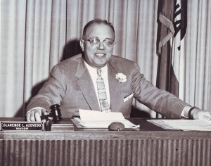 Clarence L. Azevedo served as the mayor of Sacramento from 1956 to 1959. / Photo courtesy, PHCS