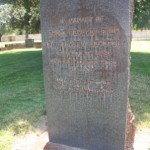 "This marker was dedicated to the New Helvetia ""unknowns"" who were buried within a city-purchased portion of East Lawn Memorial Park. / Valley Community Newspapers photo, Lance Armstrong"