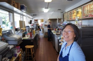 THE CHUK FAMILY has owned Cookie's Drive-In for 25 years. Stella handles the front of the restaurant, while Paul works the grill. / Valley Community Newspapers photo, Ellen Cochrane