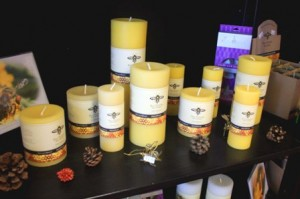 BEESWAX candles are among the products sold at Sacramento Beekeeping Supplies. / Valley Community Newspapers photo, Lance Armstrong