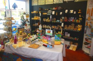 LOTS OF OPTIONS. The store offers a wide variety of non-beekeeping supplies, including candles, lotions, creams, lipsticks, shampoos and conditioners and bee-related home and garden decorations, jewelry, cookbooks and stuffed animals. / Valley Community Newspapers photo, Lance Armstrong