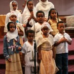 "THE ETHIOPIAN CHILDREN'S CHOIR of the Ethiopian Church in Sacramento opened the worship service for ""Hope Sunday"" at Faith Presbyterian Church in Sacramento on July 31. The Ethiopian Church uses the hall at Faith Prebyterian for its services each Sunday. / Photo courtesy, Barbara Tracy"