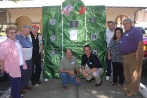 THE COMMITTEE. The California American Portuguese Veterans' War Memorial committee members include (left to right): Loretta Kanelos, Gus Kanelos, Al Balshor, Rod Rosa, Eddie Maria, Wesley Silva, Monica Souza and Manuel Perry. Jim Souza, who is not pictured, is also a member of the committee. / Valley Community Newspapers photo, Lance Armstrong