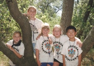 HAPPY CAMPERS. These Sacramento area children were among the last to attend traditional day camp at Camp Fire's Camp Mokitana in Goethe (now River Bend) Park in 1999. / Photo courtesy