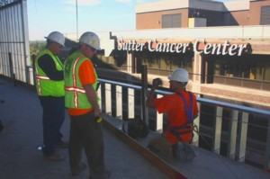 THE NEW Sutter hospital building is being constructed just east of the Sutter Cancer Center. / Valley Community Newspapers photo, Lance Armstrong