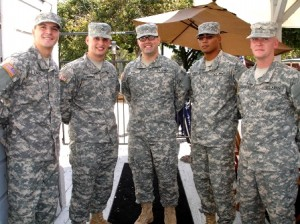 Participating in the event were (left to right) Heath Rohl, Isaac McKinndy, Shane Gilmore, Nick Hartman and David Streetman of the U.S. Army. / Photo courtesy, Sue Wells