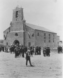DEDICATION DAY. The current St. Joseph Church is shown on its dedication day in 1924. / Photo courtesy, PHCS