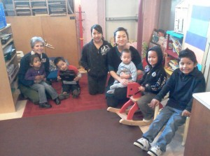 WELLSPRING WOMEN'S CENTER Executive Director Sister Judy Illig, left, and Children's Corner Coordinator Yi Yang, right, spend some time with their youngest guests in Wellspring's Children's Corner. / Valley Community Newspapers photo, Corrie Pelc