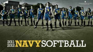 THEY'RE NOT TOUGH…NO, NOT MUCH. Pocket resident Alexandra Chan, far left, plays on the USNA Softball Team. / Photo courtesy