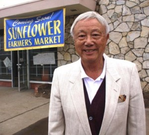 HERBERT YEE stands in front of the soon-to-be-opened Sunflower Farmers Market on Del Rio Road, just south of the Sacramento Zoo. / Valley Community Newspapers photo, Lance Armstrong