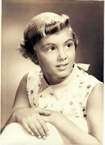 KATHY GRAY – now Kathy Goldman – is shown at the age of 11 in 1955, the year she moved out of her 46th Street home. She plans to visit the house during this year's Sacred Heart Holiday Home Tour, with her sister, Joanne (Gray) Fitzgerald. / Photo courtesy, Kathy Goldman