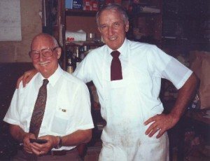 Roy Taylor (left) and Ed Schell were business partners at Roy's Market for 26 years. / Photo courtesy, Ed and Colleen Schell