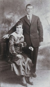 WEDDING MEMORIES. Frank and Mary Agnes Rogers are shown in their 1917 wedding photograph. / Photo courtesy, PHCS