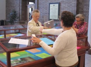 A TRAVELLING DISPLAY on human trafficking, also put together by the Soroptimists, is at the Central Library through February. It will travel to five additional libraries in the Sacramento Public Library system during 2012. / Photo courtesy, Soroptimist International of Sacramento South (SISS)