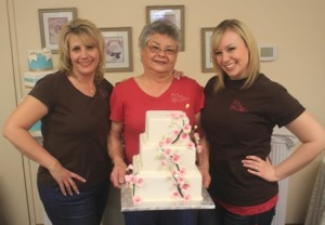 THREE GENERATIONS of the family-owned business, Cake Castle Bakery and Supplies, are (left to right): Julie (Ogg) Wong, Barbara Ogg and Makaela Mendler. / Valley Community Newspapers photo, Lance Armstrong