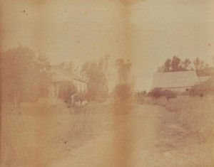 FADED MEMORIES. The Manuel Nevis home is shown in this c. 1890 photograph. The ranch's barn is located on the right side of the photograph. / Photo courtesy, Sacramento Portuguese Cultural and Historical Society