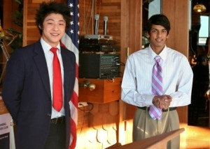 REACHING WITHIN, Kennedy High School upperclassmen Daniel Li and Simon Lal (left to right) competed in the Rotary Club of Pocket-Greenhaven's annual speech contest. / Valley Community Newspapers photo, Sally King