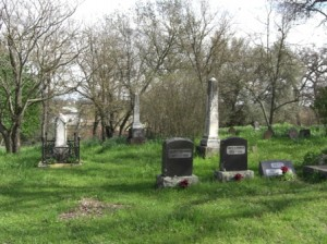 THE SLOUGHHOUSE PIONEER CEMETERY is located on the Jackson Highway, 18 miles southeast of Sutter's Fort. / Photo courtesy, DUP