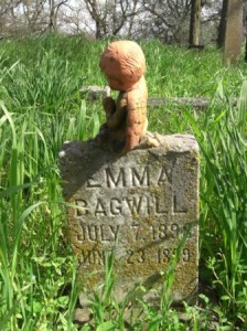 FAMILIES ARE FOREVER. Emma Bagwill, who died just prior to her first birthday, was buried in the Sloughhouse Pioneer Cemetery in 1899. Overall, four generations of her family were buried at the cemetery. / Photo courtesy, DUP