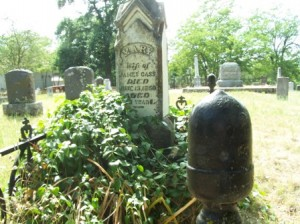 MARY CASS was buried in the Sloughhouse cemetery in 1860. / Photo courtesy, DUP