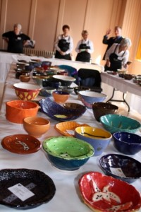 HAND-CRAFTED bowls created by local artists and students are the must-have item at this annual event. / Photo courtesy, River City Food Bank