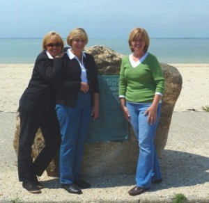 ASCH FAMILY DESCENDENTS. Left to right, Barbara (Hofmeister) Caporaso, Cathy (Hofmeister) Mulqueen and Susie (Hofmeister) O'Brien are descendants of Barbara and John Asch. / Photo courtesy, Susie O'Brien