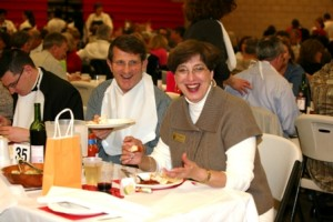 FAITH, FAMILY, FRIENDS AND FUN. Capital campaigns and fundraisers are hard work, but St. Francis President Marion Bishop always led the way with a faithful and encouraging heart. / Photo courtesy, St. Francis High School