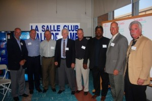 NEW INDUCTEES. Left to right, Bob Puccinelli, Don Murphy, Ken Hottman, Mike Furtado, Rich Separovich, LeRon Lee, Jim Barr and Pat Fall were named to the 2012 class of the La Salle Club Baseball Hall of Fame. / Valley Community Newspapers photo, Lance Armstrong