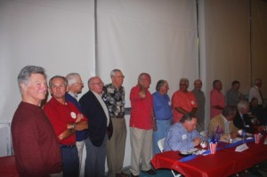 BASEBALL MEMORIES. The event included a special tribute to members of the 1962 Bishop Robert J. Armstrong High School baseball team. / Valley Community Newspapers photo, Lance Armstrong