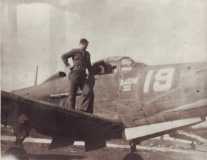 John Kanelos poses on the wing of an American Bell P-39 Airacobra in 1943. The photograph was taken in the Italian city of Manduria. / Photo courtesy, John Kanelos