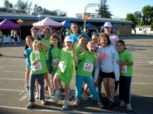 READY TO RUN. Girls On the Run team from Theodore Judah Elementary in East Sacramento on race day of their 5K. / Photo courtesy, Girls On the Run