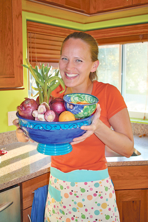 East Sacramento resident Amber Stott, who founded the California Food Literacy Center and partnered with Assemblymember Dickinson to declare September as Food Literacy Month. // Courtesy photo