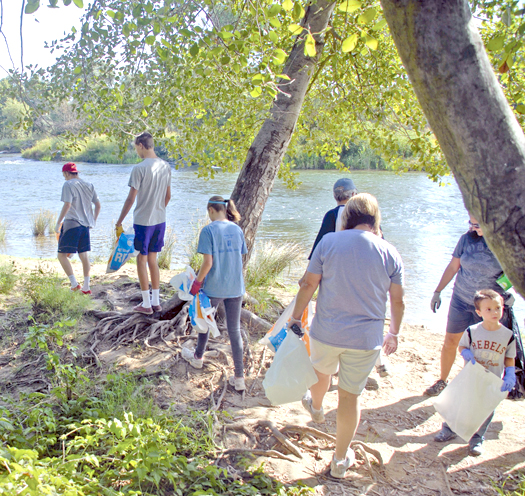 Volunteers from last year's Great American River Clean Up collected trash all along the river. About 1,500 volunteers are expected this year on Saturday, Sept. 15. / Courtesy of the American River Parkway Foundation