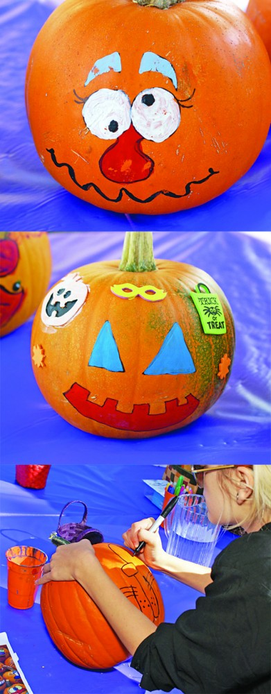 Earlier this month, a local farmers market held a pumpkin painting event. / Photos by Bill Condray