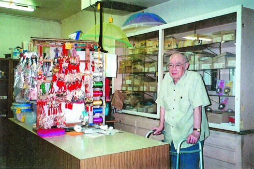 Eugene Okada at the Yorozu store on Riverside. Okada died Sept. 21. He was 93. Okada was the last owner of the Yorozu, which has been family owned and operated for almost 100 years. / Courtesy photo