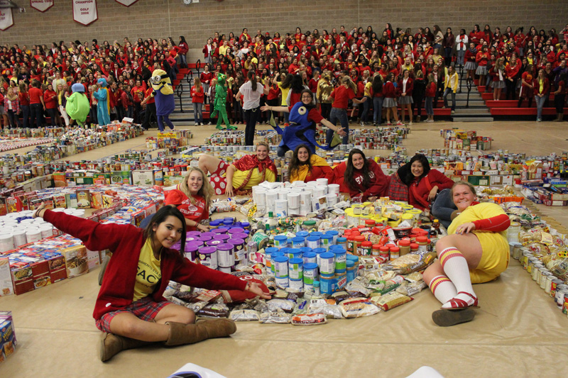 St. Francis High School holds record breaking food drive ...