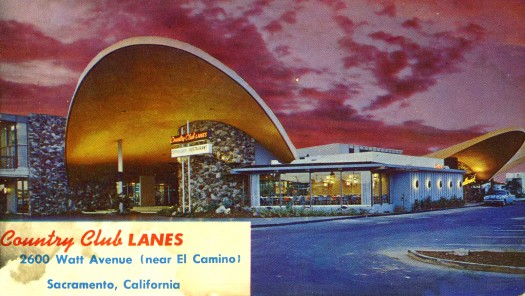Country Club Lanes is shown in this c. 1960 postcard image. Photo courtesy