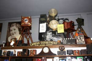 Camera history comes alive through the many historic cameras on display at Pardee's Cameras. Photo by Lance Armstrong