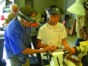 Students in the Youth Training Program of the Nor-Cal Woodturners. Photo courtesy Nor-Cal Woodturners.