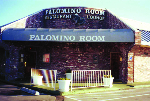 The Palomino Room, shown in this 1995 photograph, operated at 3405 El Camino Ave. from 1956 to 2000. Photo courtesy of Boroski/Borowoski family