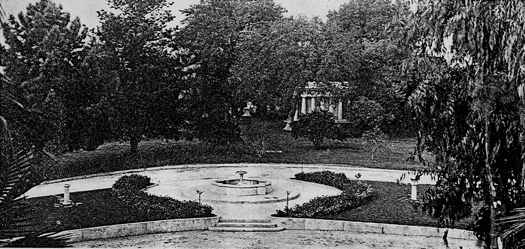 This fountain was once visible from the entrance of East Lawn's mausoleum. Photo courtesy of East Lawn Memorial Park