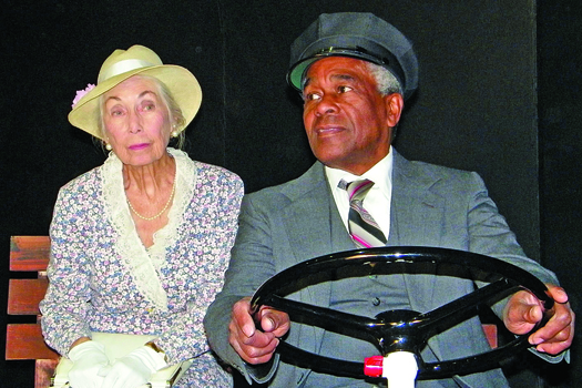 "Chautauqua Playhouse in Carmichael announces the opening of ""Driving Miss Daisy"" by Alfred Uhry.  The show opens on January 18th and runs for 6 weeks at the Playhouse. – From the left, Janice Reade Hoberg, James Wheatley"